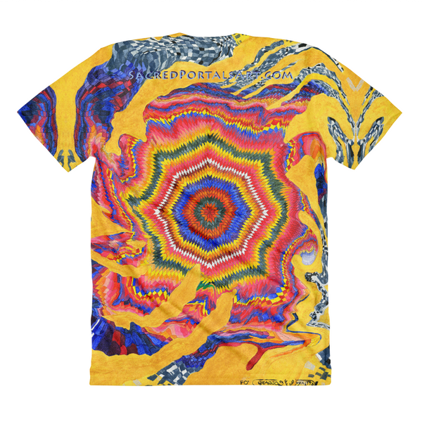 """Prosperity Cloth of the Universe"" (8th Chakra - infinity) ©2009 - LA Apparel PL301 Women's Sublimation T-Shirt"