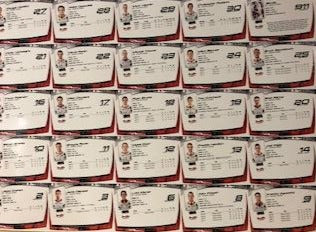 Sheet of Niagara IceDogs Uncut Player Cards
