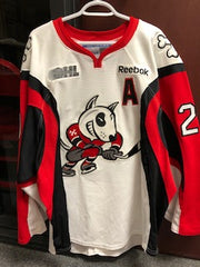 2012/2013 & 2018/2019 Game-Worn IceDogs Assistant Captain Jerseys