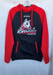 Adult CCM Hoodie With Black Body, Red Arms