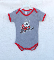 Infant Heathered Onesie With Trim