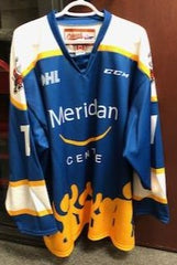 Blue & Gold (Meridian Credit Union) Niagara IceDogs Warmup Jersey