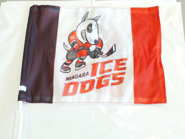 Niagara IceDogs Car Flag