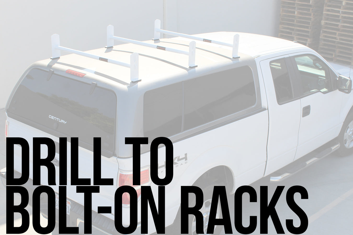 Drill to Bolt-on Racks
