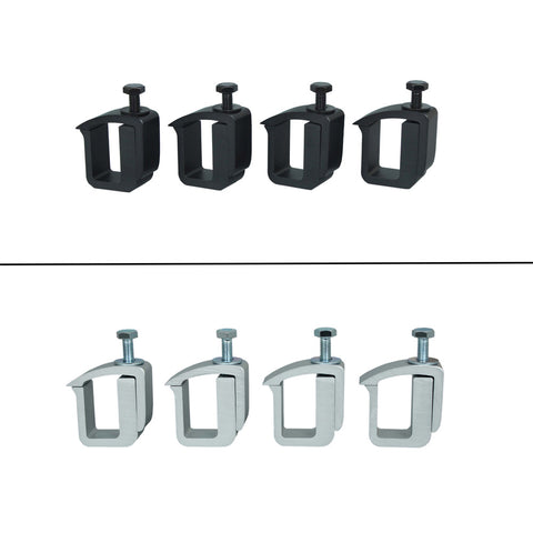 AA-Racks Mounting Clamp for Truck Cap, Camper Shell, Topper for a Short Bed Pickup Truck (Set of 4), (P-AC-02)