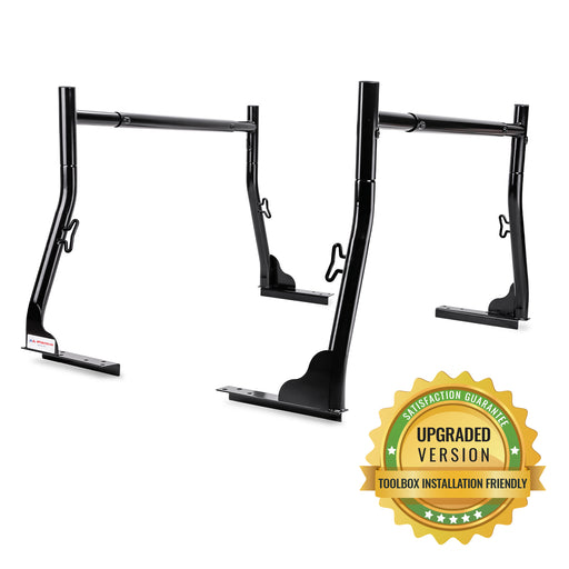 AA-Racks Universal Pickup Truck Ladder Rack with (8) Mounting C-Clamps Utility (X35-8Clamp) - AA Products Inc