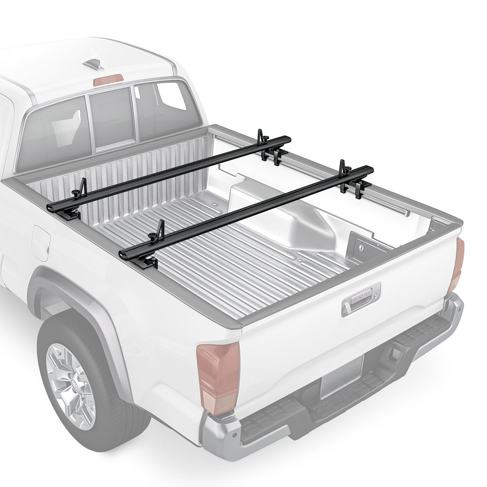 AA-Racks Compatible Tacoma 2005-On Low Profile Aluminum Truck Bed Racks (300lb On Road Capacity) (APX2503-TA) - AA Products Inc