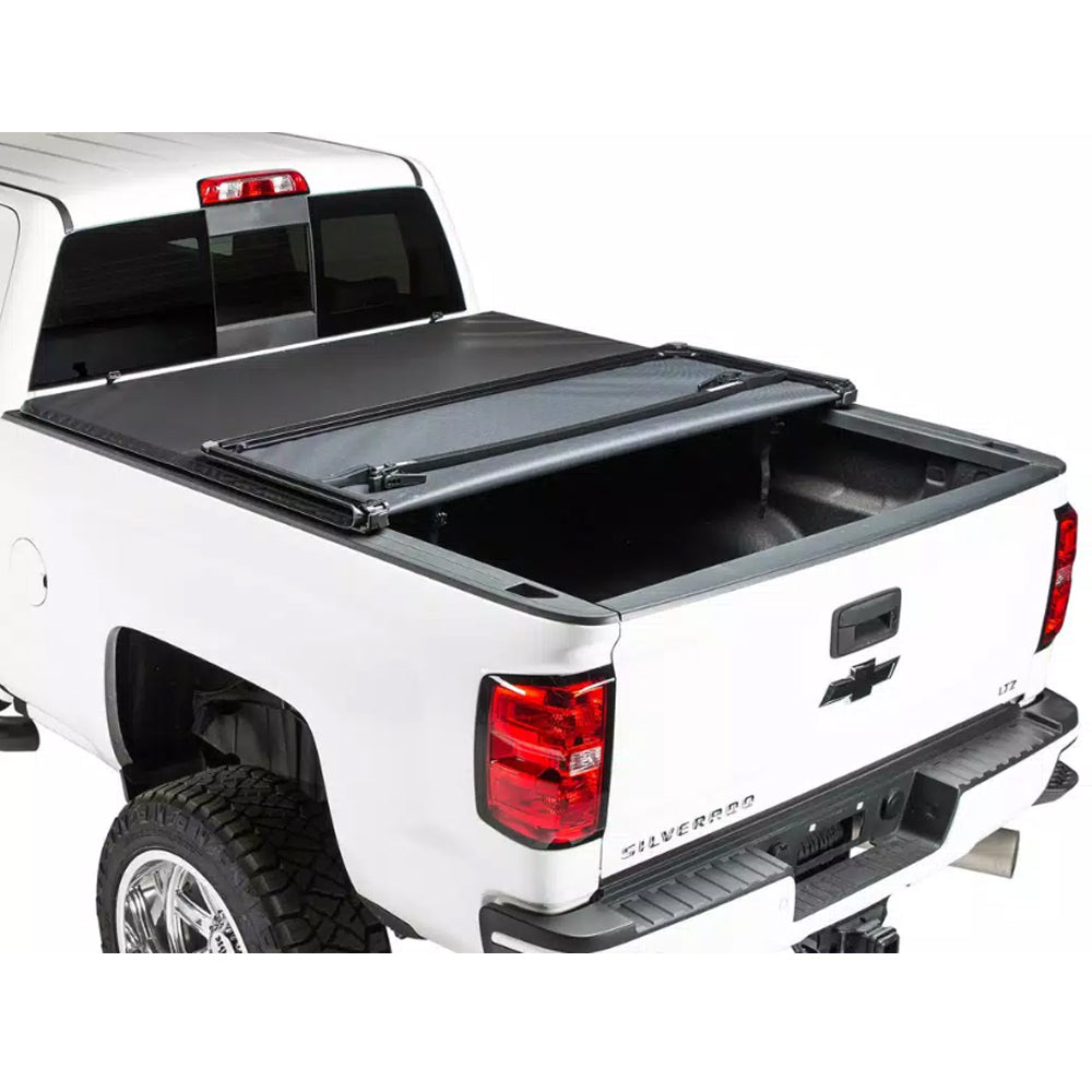 AA Products Soft Tri-Fold Truck Bed Tonneau Cover Works with 2014-2018 Silverado/Sierra 1500, 2019 Silverado Legacy/Sierra Limited | Fits 5.8' Bed (TC-ST-CS/GS1500-5.8(14-19) - AA Products Inc