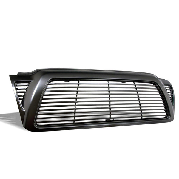 AA Products 2005-2011 Toyota Tacoma Badgeless Horizontal Style Front Hood Bumper Grill Grille ABS Gloss Black (FG-TM(05-11)-02-BLK) - AA Products Inc