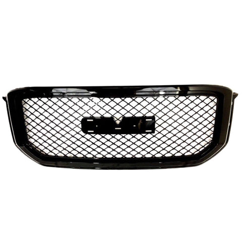 AA Products 2015-2018 GMC Yukon / XL / Denali Luxury Sport Mesh Front Hood Bumper Grill Grille w/  Emblem Base Gloss Black (FG-GY(15-18)-02-BLK) - AA Products Inc