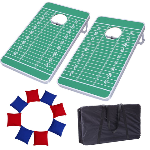 AA Products Wooden Cornhole Board Bean Bag Toss Game Set Backyard Outdoor Sports with 8 Bean Bags - 2.5ft x 1.5ft (GC-001) - AA Products Inc