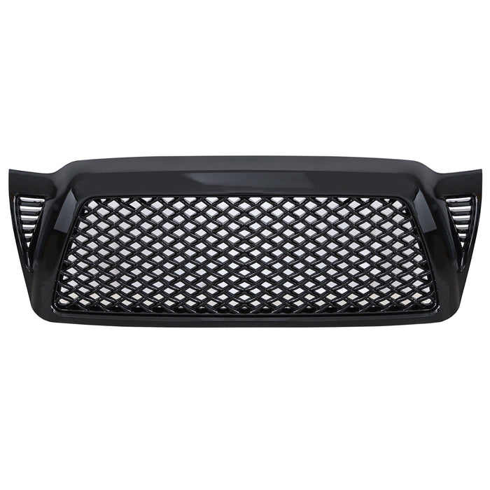 Black Lovinouse Mesh Upper Toyota Grid Grill Guard Replacement Front Grille for Toyota Tacoma 2005 to 2011