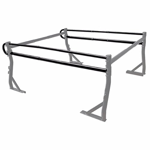AA-Racks Adjustable Side bar with NO Cab. Extension for Basic Two-barred Truck Rack (X39-B-BX2-BLK)