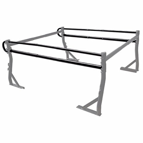 AA-Racks Adjustable Side bar with No Cab. Extension for Basic 2 Bar Pickup Truck Ladder Rack - Black/ White (P39-B-BX2)
