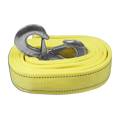 AA Products Heavy Duty Tow Strap Ropes with 2 Safety J Hooks (TS)