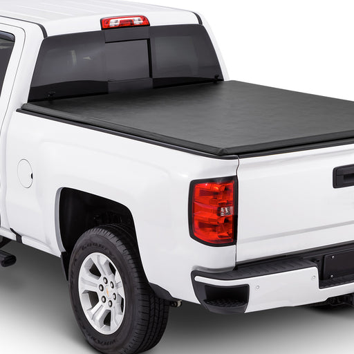AA Products Soft Tri-Fold Truck Bed Tonneau Compatible Ford F-150 2015 up to 2019 | Fits 5.5' Bed 6.5' Bed (TC-ST-F150(15-18) - AA Products Inc