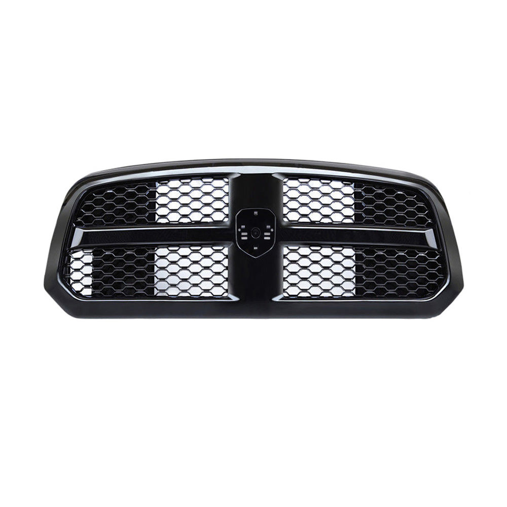 AA Products Fits 2013-2017 Ram 1500 OE Honeycomb Mesh Front Hood Bumper ABS Replacement Grill Grille (FG-RAM1500(14-17)-02-BLK) - AA Products Inc