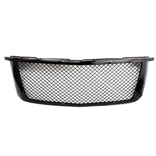 AA Products 2015-2018 Chevy Tahoe/Suburban Gloss Black Finished Front Grille Mesh Hood Bumper Grill Cover (FG-CT(15-18)-01-BLK) - AA Products Inc