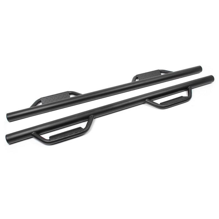 AA Products Hoop Style Drop Step Nerf Bars | Side Step Rails | Running Boards for 2009-2018 Dodge Ram 1500 Quad Cab/Crew Cab (RB-RAM(09-18)-A) - AA Products Inc
