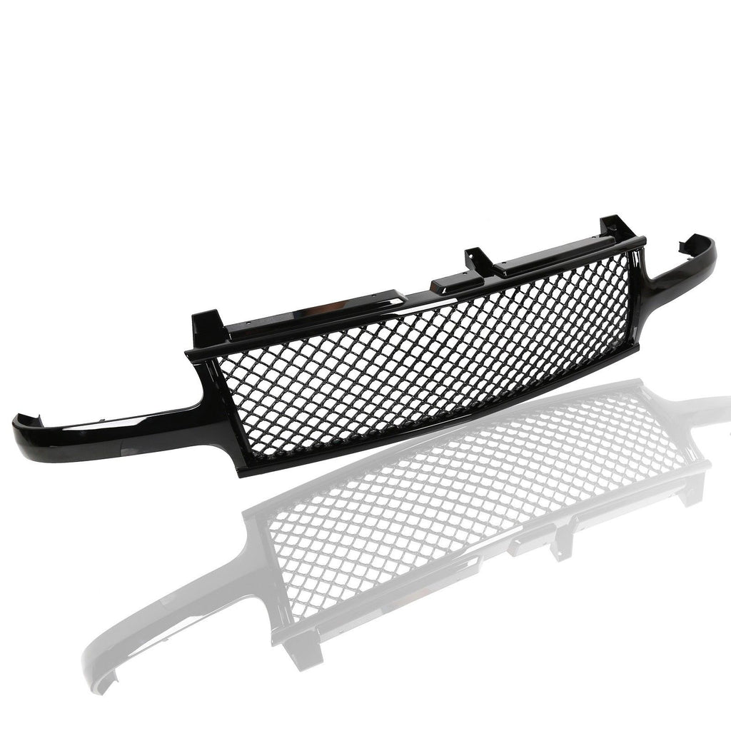 AA Products Front Grille Mesh Hood Bumper Grill Cover for 1999-2002 Chevy  Silverado 1500 2500 / 2000-2006 Tahoe / Suburban (FG-CS(99-02)-01-BLK)
