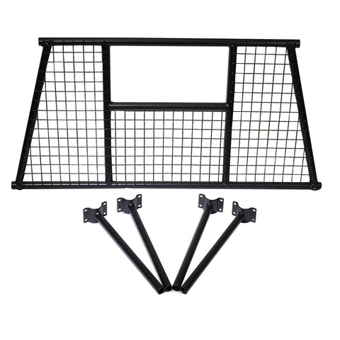 AA-Racks Mesh Protective Screen Set for Basic Truck Rack Headache Rack Matte (Black)