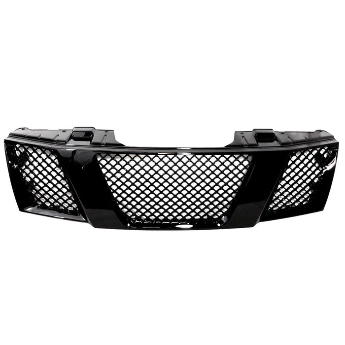 AA Products ABS Replacement Mesh Style Hood Bumper Front Grille Grill Guard Cover for 2005-2009 Nissan Navara (FG-NN(05-09)-01-BLK) - AA Products Inc
