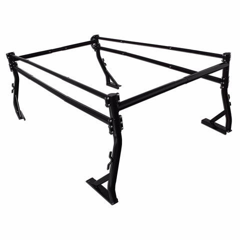 AA-Racks Adjustable Full-size Truck Ladder Rack Side Bar with No Cab. Extension -Black/ White (X39-B)