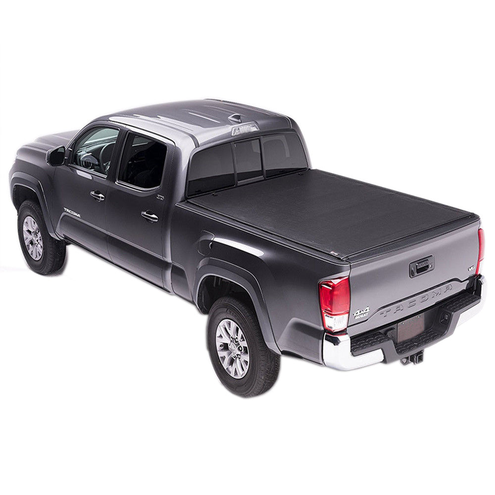Aa Products Soft Roll Up Truck Bed Tonneau Cover Compatible Toyota Tacoma 2016 Up To 2018 Fits 5 Bed 6 Bed Tc Ro Ta 16 18 Aa Products Inc