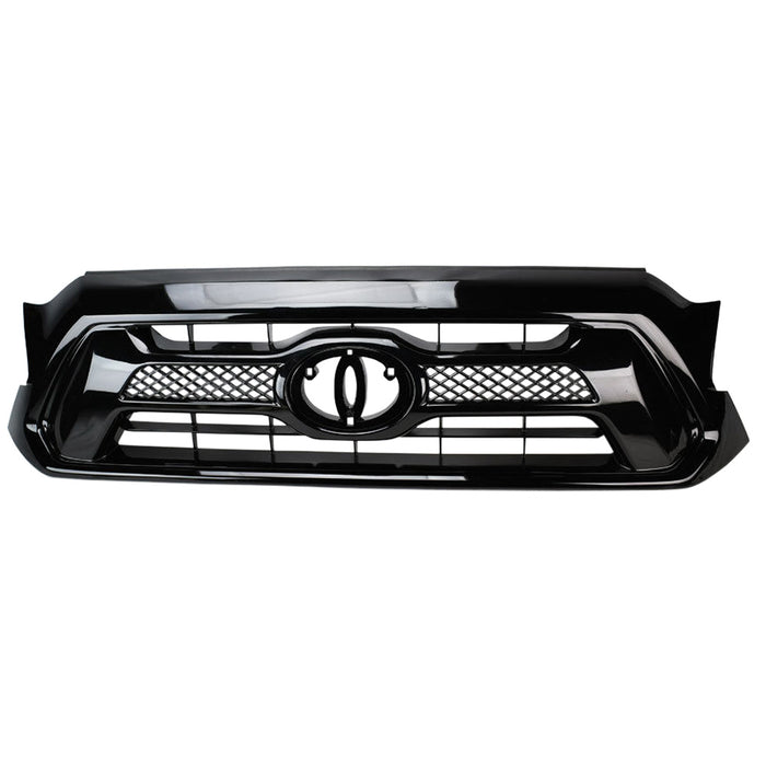 AA Products Fits 2012-2015 Tacoma Luxury Sport Mesh Front Hood Bumper ABS Replacement Grill Grille (FG-TM(12-15)-01-BLK) - AA Products Inc