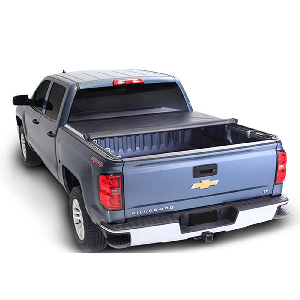 AA Products Soft Roll Up Truck Bed Tonneau Cover Works with 2014-2019 Silverado/Sierra 1500; 2015-2018 Silverado Sierra 2500 3500 HD | Fits 6.5' Bed (TC-RO-CS/GS-6.5(14-19) - AA Products Inc