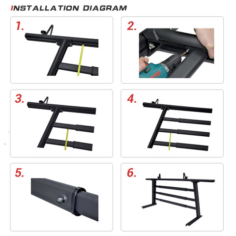 AA-Racks Aluminum Headache Rack Truck Ladder Rack for Pickups with 3 Bar Protector Rear Window Guard Back Rack (Fits: Toyota Tacoma 2005-On) - (APX25-WG-TA) - AA Products Inc