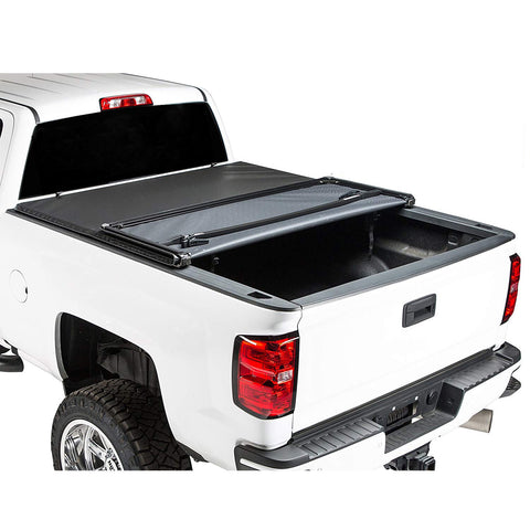 AA Products Soft Tri-Fold Truck Bed Tonneau Cover Compatible Toyota Tundra 2014 up to 2019 | Fits 5.5' Bed 6.5' Bed (TC-ST-TD(14-18) - AA Products Inc