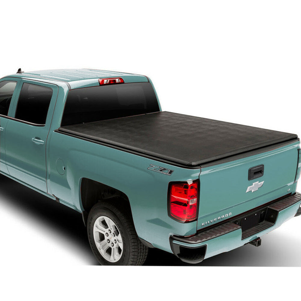 AA Products Soft Roll Up Truck Bed Tonneau Cover Compatible Chevy Silverado/GMC Sierra 1500 2007 up to 2013 (Excl. 2007 Classic) | Fits 5.8' Bed (TC-RO-CS/GS1500-5.8(07-13) - AA Products Inc