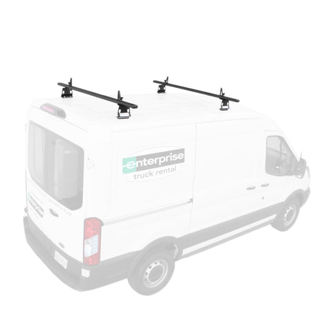 AA-Racks Model AX302-TR Transit 2015-On Aluminum Van Roof Rack System With Ladder Stopper (AX302-72-TR-Parent)