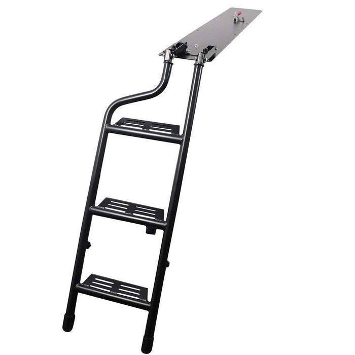 AA Products Pickup Truck Tailgate Step Ladder Fits 2014-2018 Ford F150 Black Steel Tailgate Easy Step Ladder (TSL-F150(14-18)-01-BLK) - AA Products Inc