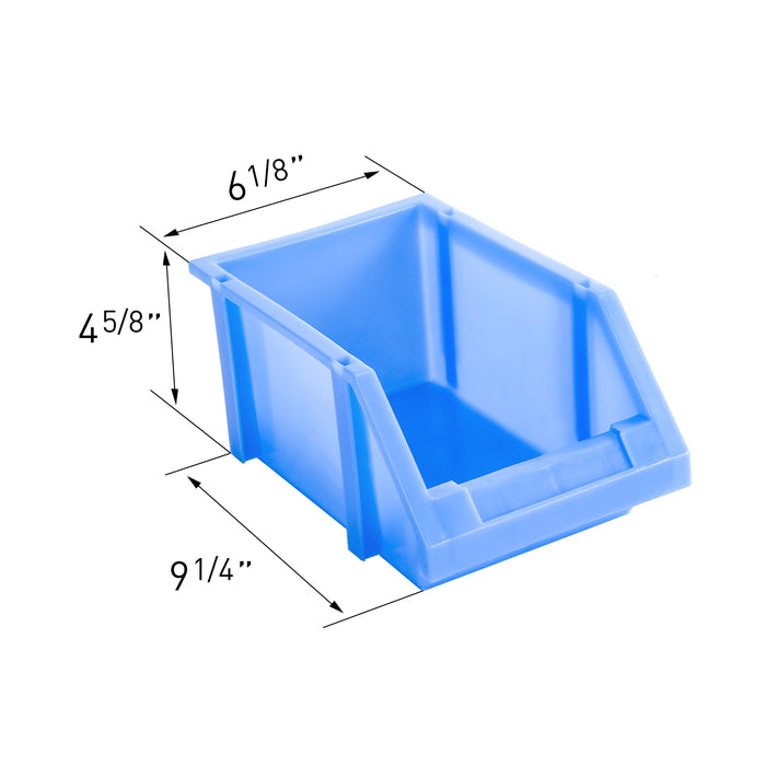 "AA Products Plastic Storage Stacking Bin For SH-4303(32"" W * 43"" H) Shelf Unit Shelf Accessories, 10-Inch by 6.2-Inch by 4.5-Inch, Case of 5 (P-SH-5PB-43) - AA Products Inc"