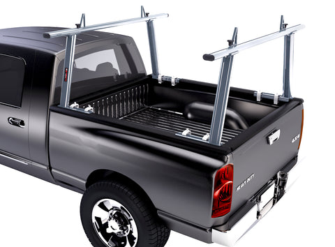 AA-Racks Adjustable Aluminum Pick-Up Truck Ladder Rack (No drilling required) (APX25)