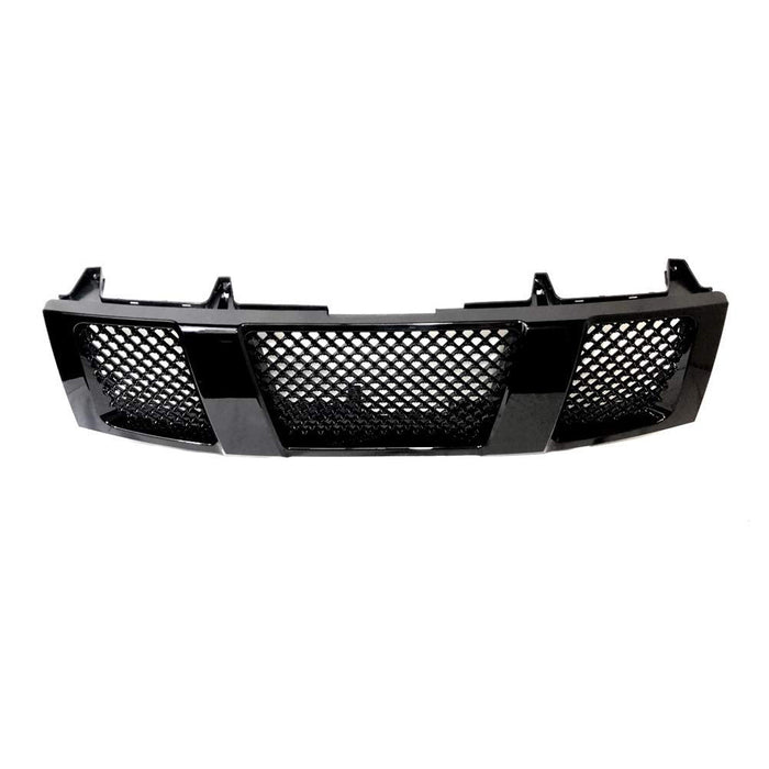 AA Products Gloss Black Finished ABS Replacement JDM Sport Mesh Style Hood Bumper Front Grille Grill Guard Cover for 2004-2007 Nissan Titan / Armada (FG-NT(04-07)-01-BLK) - AA Products Inc