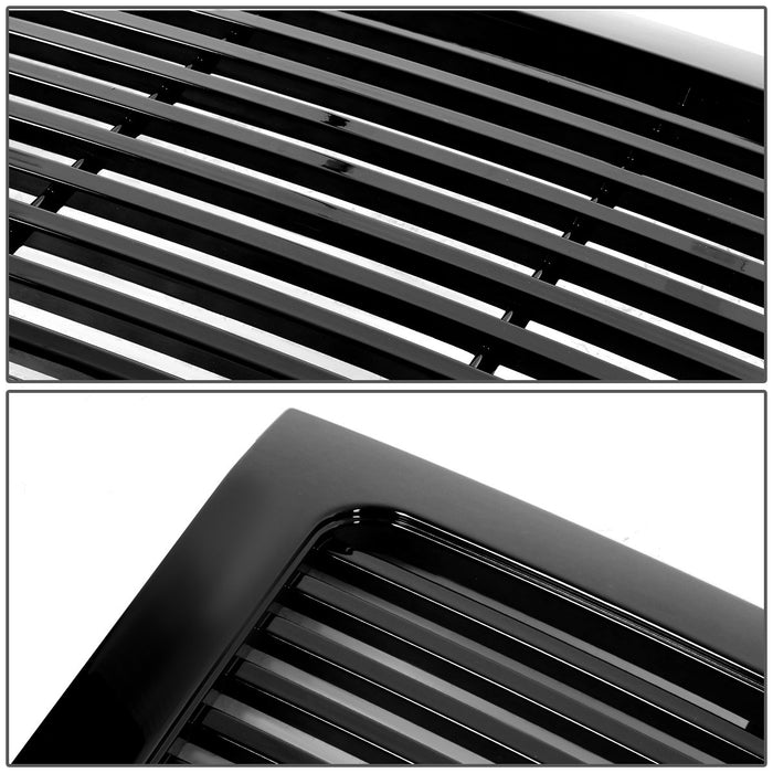 AA Products 2009-2014 Ford F150 Badgeless Horizontal Style Front Hood Bumper Grill Grille ABS OE Replacement (FG-F150(09-14)-05-BLK) - AA Products Inc