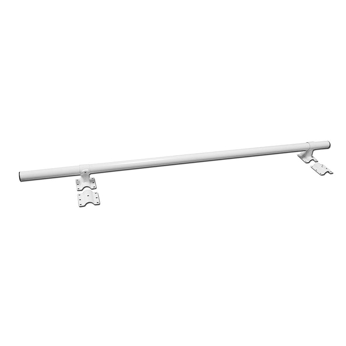AA-Racks Pickup Truck Ladder Rack Removable Middle Crossbar and Rear Cross Bar - Black/ White (P39-MC/RC) - AA Products Inc
