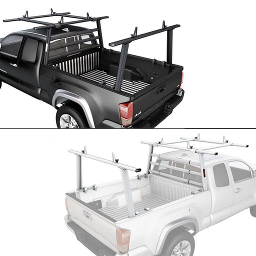 AA-Racks Aluminum Headache Rack Pickup Truck Utility Ladder Rack w/ Over Cab Extension Racks For Toyota Tacoma 2005-On (APX25-WG(3)-E-TA) - AA Products Inc