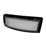 AA Products 2009-2014 Ford F150 Gloss Black Rivet Steel Wire Mesh Replacement Grille with Shell (FG-F150(09-14)-01-BLK) - AA Products Inc