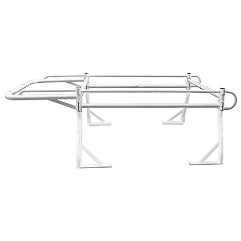 AA-Racks Adjustable Side bar with 55'' Long Over Cab. Extension for Basic 2 Bar Pickup Truck Rack - Black/ White (P39-LC-BX2)