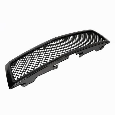 AA Products Gloss Black Front Grille Mesh Hood Bumper Grill Cover for 2007-2013 Chevy Silverado 1500 (FG-CS1500(07-13)-01-BLK) - AA Products Inc