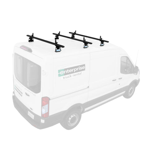 AA-Racks Aluminum Van Roof Rack System with Load Stop Utility Carrier Rack (Fits: Transit 2015-On) (AX302-TR)