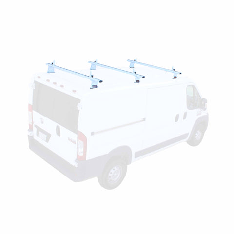 AA-Racks Aluminum Cargo Van Roof Ladder Rack with Load Stop (Fits: RAM ProMaster 2013-On) (AX302-PR)