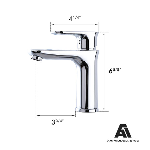 AA Products Single Handle Bathroom Sink Faucet Deck Mount Lavatory Faucet Brass (BM) - AA Products Inc