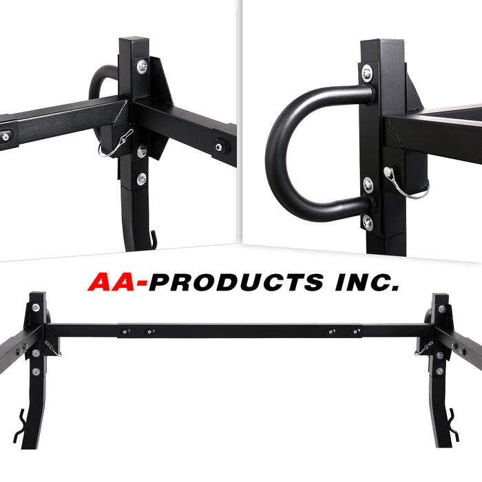 AA-Racks Heavy-duty Adjustable Truck Ladder Rack Square Bar Rack w/ Side-bars Extension - (X219) - AA Products Inc