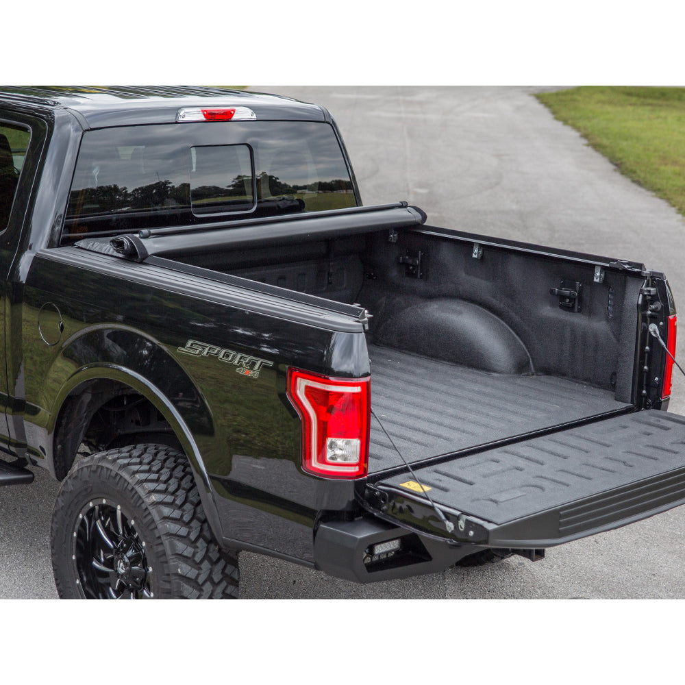 "For 2019 Dodge Ram 1500 6.4/'//76.8/"" Bed Lock /& Roll Up Soft Vinyl Tonneau Cover"