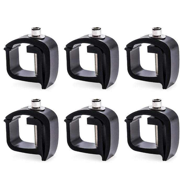 AA-Rack Aluminum Mounting C-clamps For No Drilling Truck Rack & Camper Shell (P-AC-01) - AA Products Inc